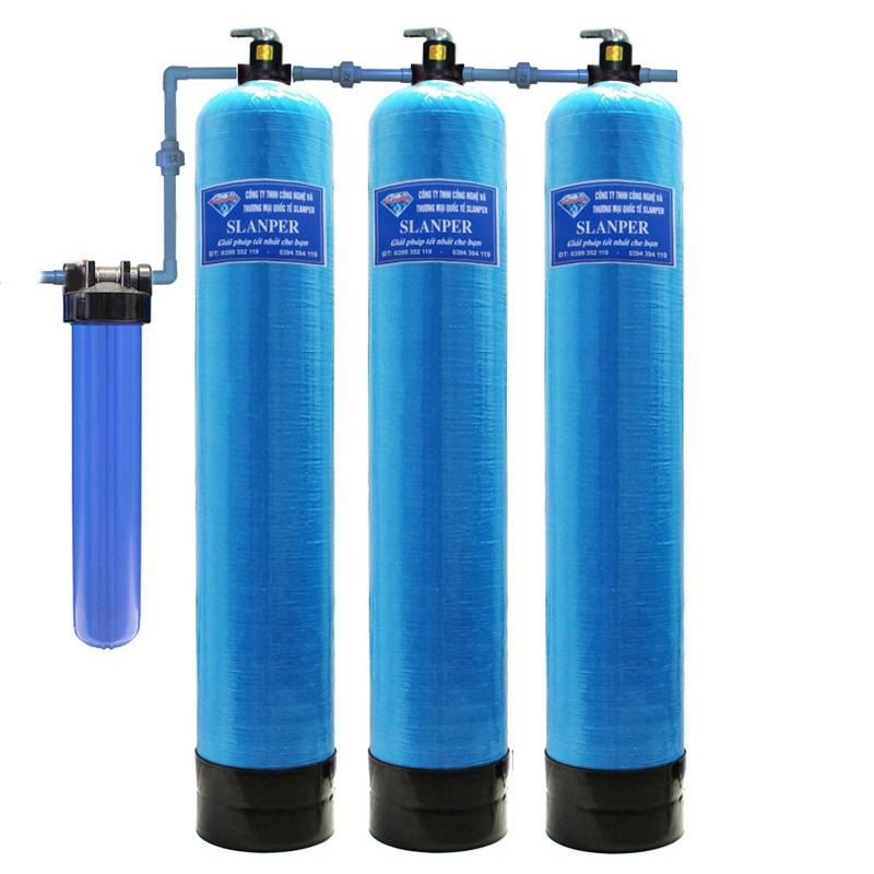 Hệ thống lọc nước giếng khoan nhiễm sắt nặng Slanper SLP.F301